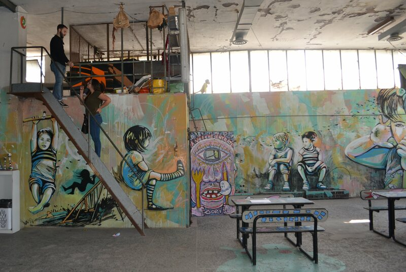 A group of artists has designed an area for children of MAAM.