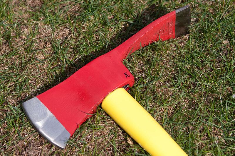 The head of a Pulaski axe.