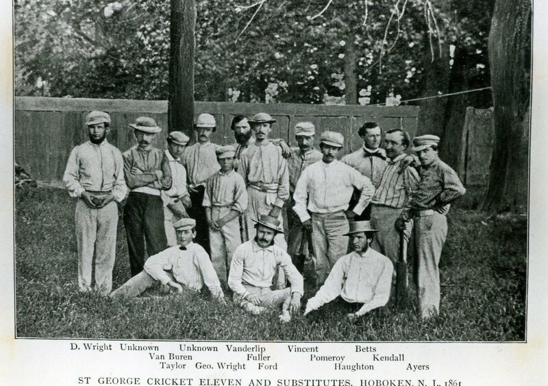 St. George's Club cricketers, 1861.