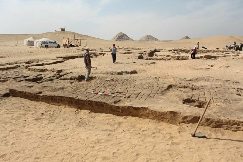 Excavation of the temple.