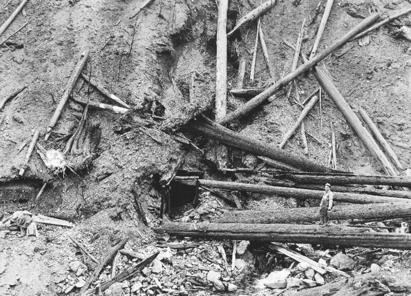 "The ""Pulaski tunnel"" mine shaft in Idaho."