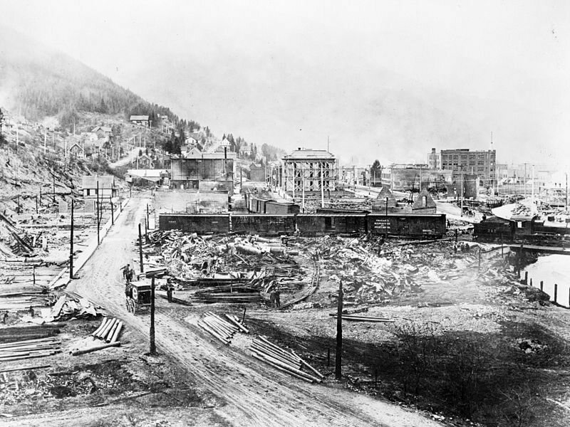 Wallace, Idaho, after the 1910 fire.
