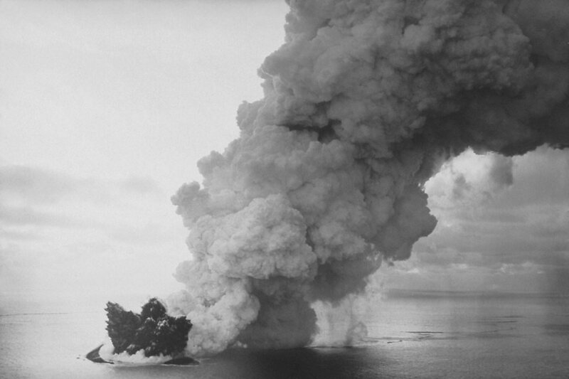 Early in the series of eruptions that created Surtsey Island.