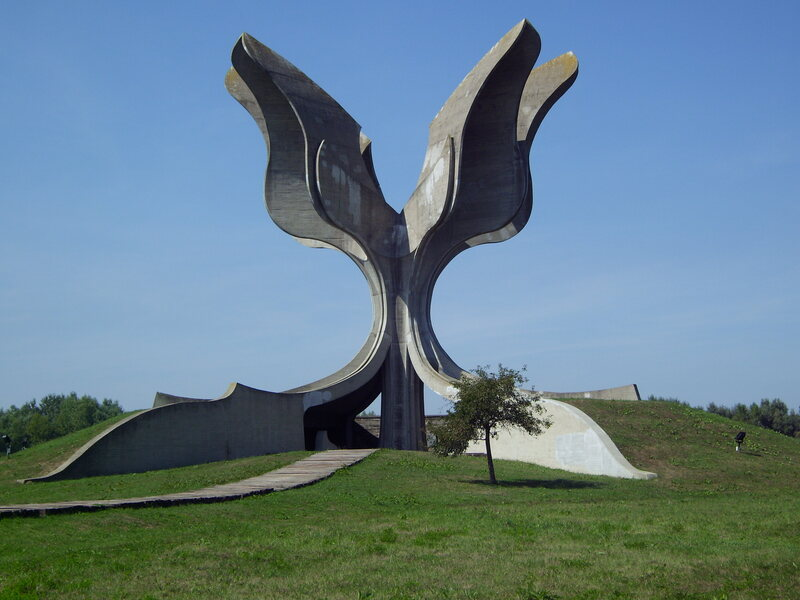 """The """"Stone Flower"""" monument in Croatia, devoted to the victims of the Jasenovac concentration camp."""
