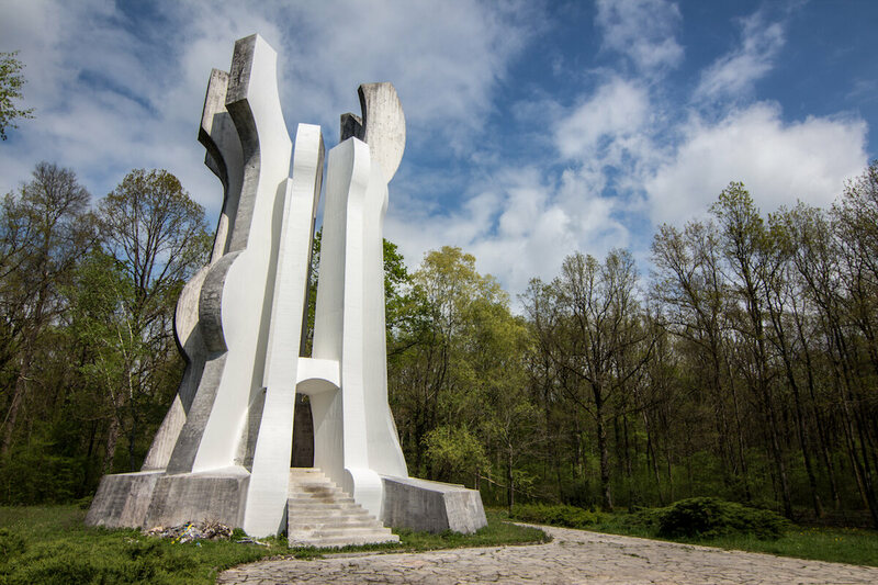 The Monument to the Detachment in Brezovica Forest in Croatia.