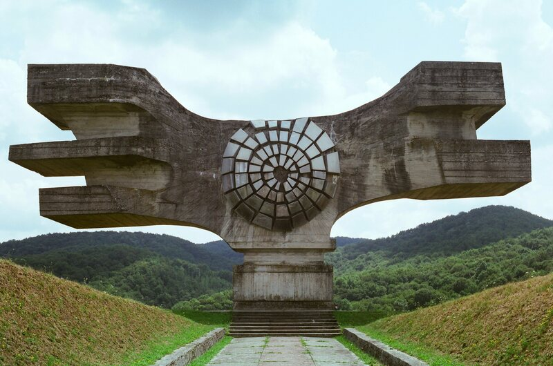 The Podgaric Monument in Croatia symbolized power and triumph.