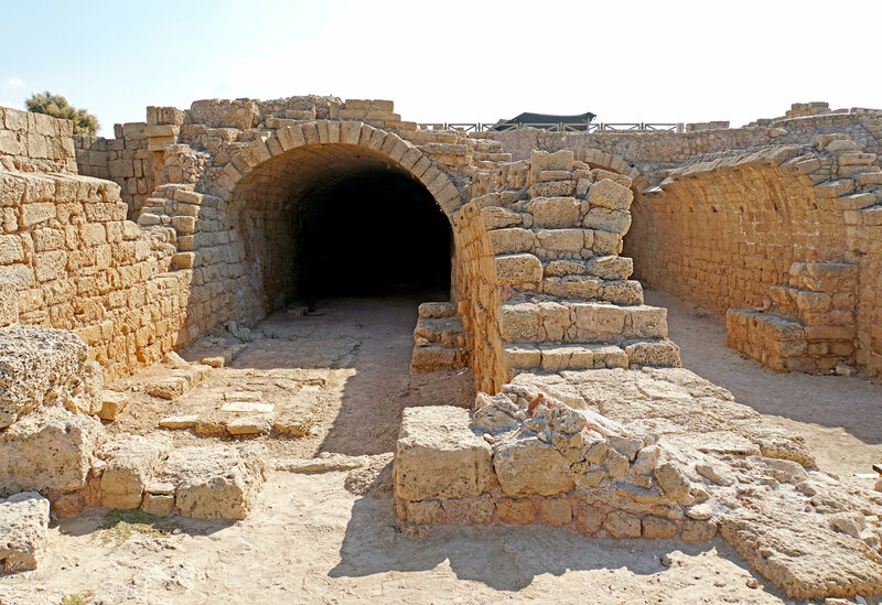 A Mithraeum in Israel, one of over 400 scattered throughout the former Roman Empire.