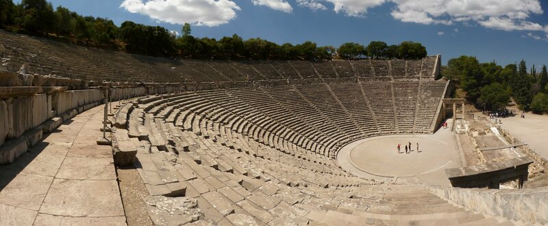 The 2,300-year-old theater at Epidaurus.