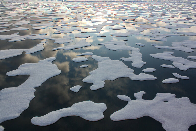 Arctic sea ice patterns, from NASA's two-year study of how changing conditions are affecting the Arctic.