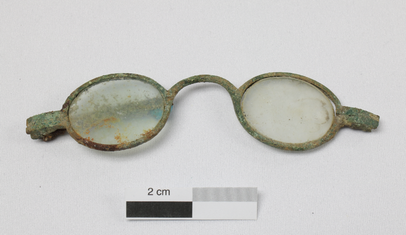 A pair of glasses probably belonged to a Canadian lawmaker who fled the building during the fire.