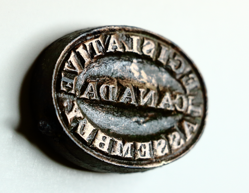 Archeologists found the only known surviving example of a stamp bearing Canada's legislative assembly seal.