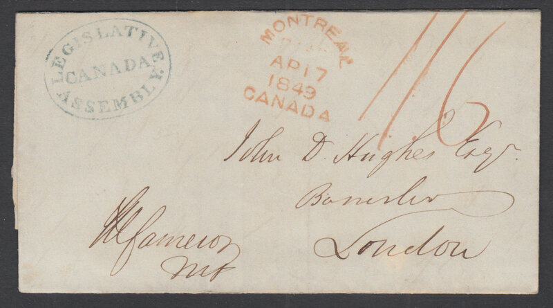 A letter bearing Canada's legislative assembly stamp.