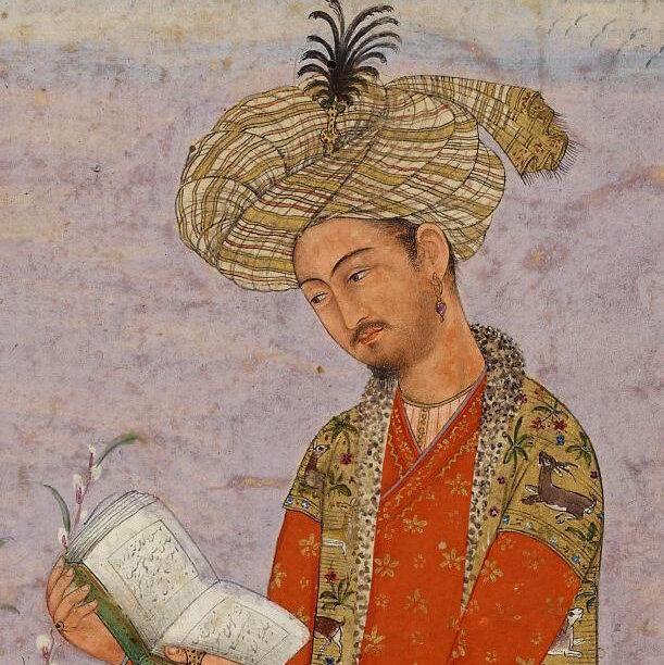 A portrait of Babur.