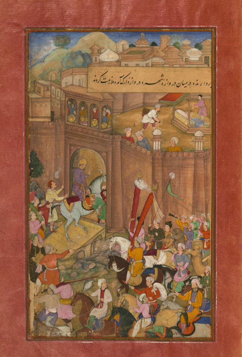 Babur entering Kabul.