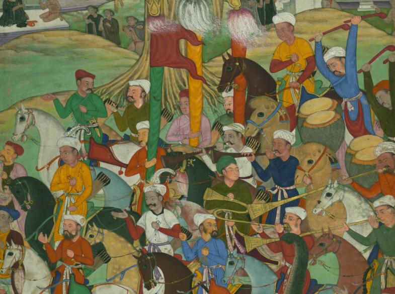<em>Babur, on the Way to Hindustan, Camping at Jam</em>, from the <em>Baburnama</em>.