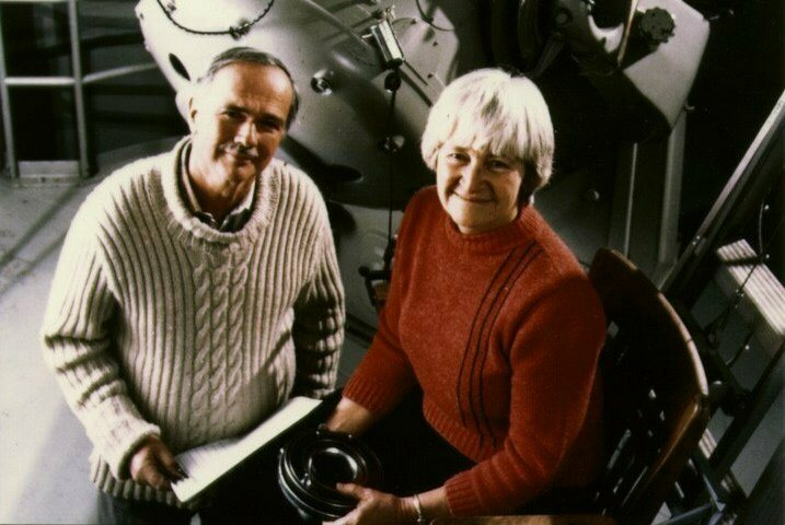 Gene Shoemaker and his wife, fellow scientist Carolyn Shoemaker.