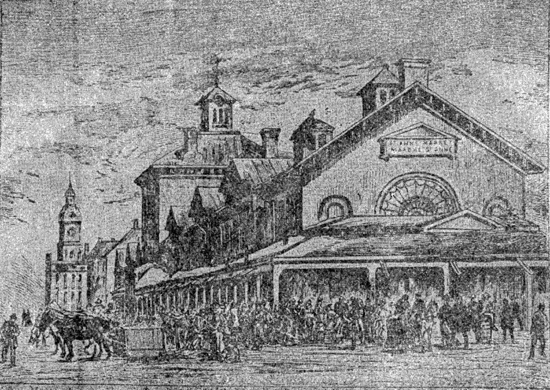 St. Anne's Market, which for a decade hosted the Province of Canada's first unified parliament, was one of the first public structures in North America with an enclosed sewer system.