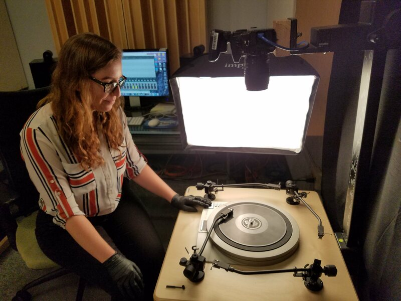 Digitizing 78s at George Blood's facility in Philadelphia.