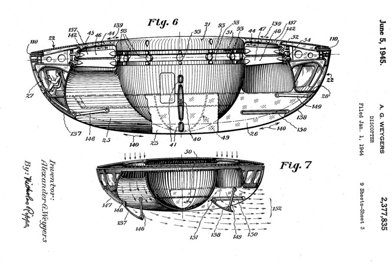 Weygers' patent for his Discopter.