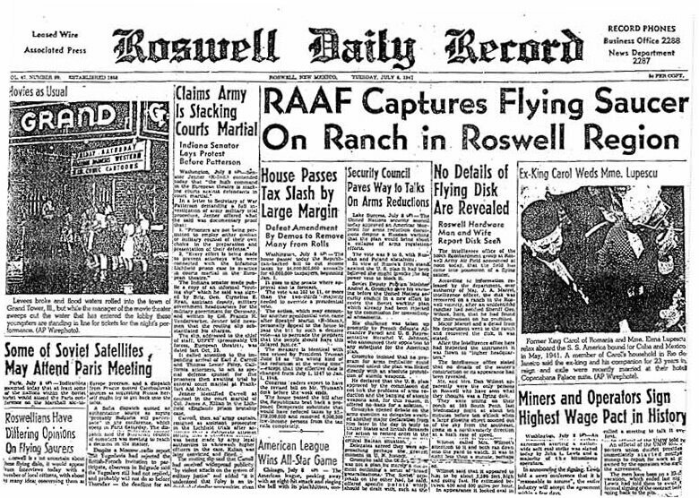 Reporting on Roswell.