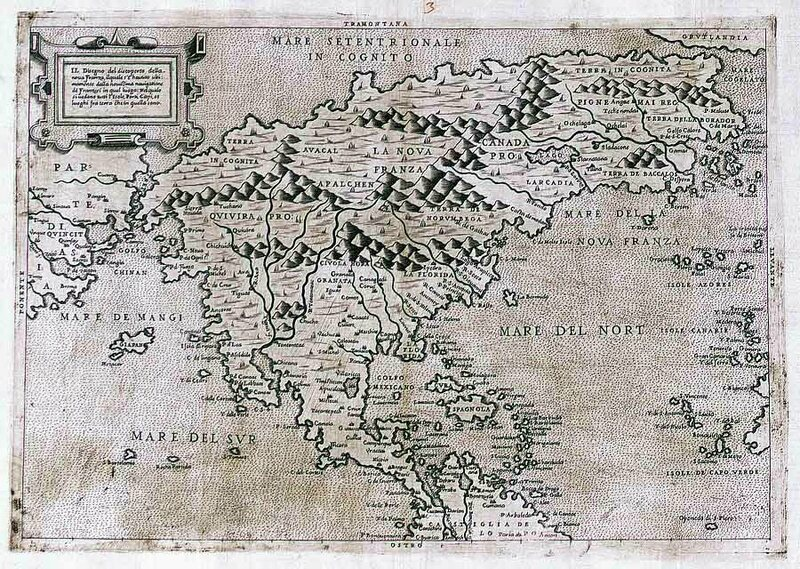 Forlani's map of North America from 1566.