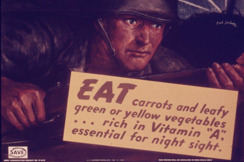 Even the U.S.A. got a dose of carrot propaganda.