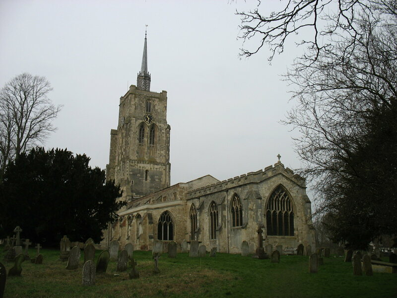 St Mary's Church, Ashwell where apotropaic marks such as VV, standing for Virgin of Virgins, have been found.