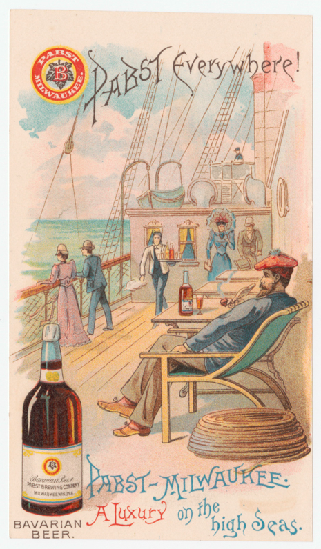 Before it was bottom of the barrel fare at dive bars, Pabst promised high life on the high seas.