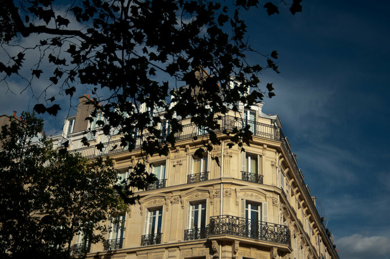 Parisians built apartment with limestone from quarries below and around the city.