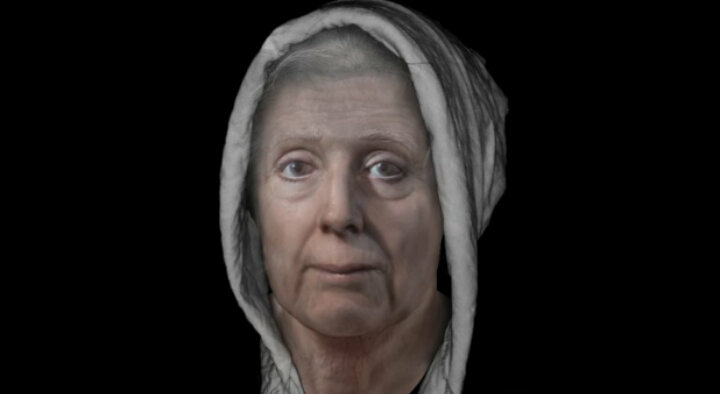 Lilias Adie's face, reconstructed from century-old images of her skull.