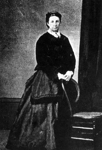 Minnie Dean, pictured on the occasion of her wedding to Charles Dean in 1872.