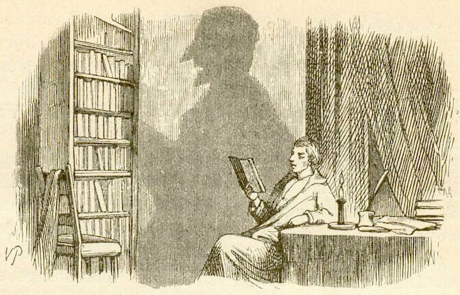 Hans Christian Andersen's <em>Skyggen</em>, in which a man's shadow takes over his life.