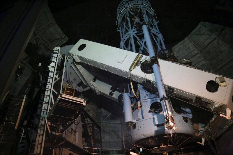 An inside view of the Hooker telescope.