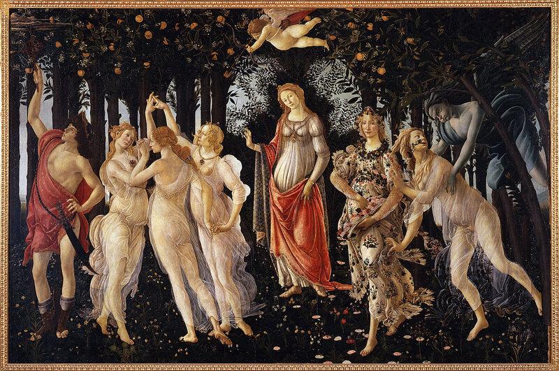 Sandro Botticelli's 15th-century painting <em>La Primavera</em>, or <em>Spring</em>.
