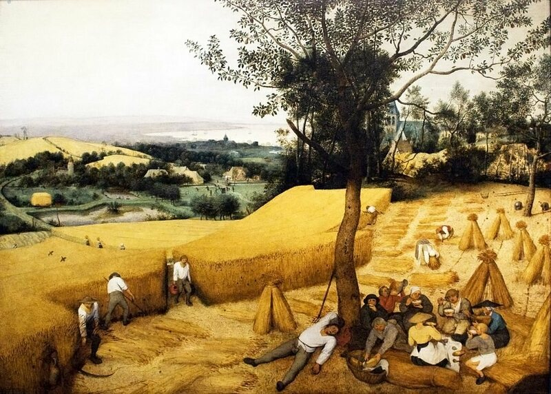 <em>The Harvesters</em>,* by Pieter Bruegel the Elder.