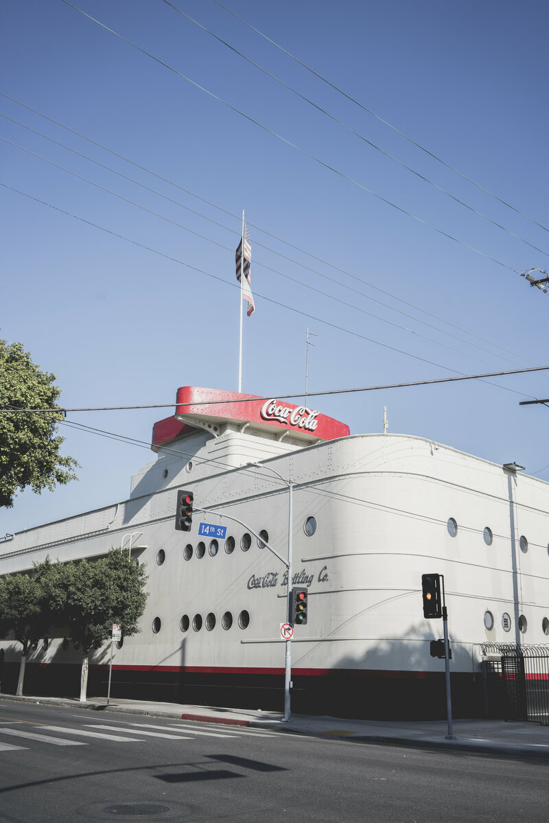 The Coca-Cola building.