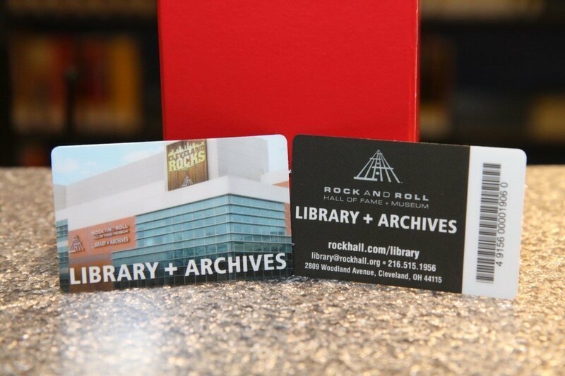 A Rock Hall library card.