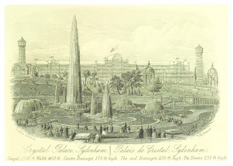 The Crystal Palace as it appeared in 1872.
