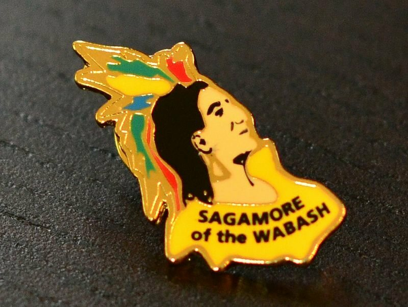 A Sagamore of the Wabash lapel pin.