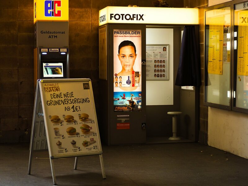 Digital photo booths like this one in Germany have replaced their analog forebears.