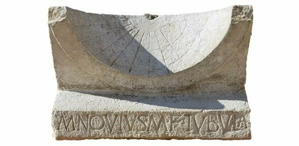 The sundial celebrating Marcus Novius Tubula's electoral victory.