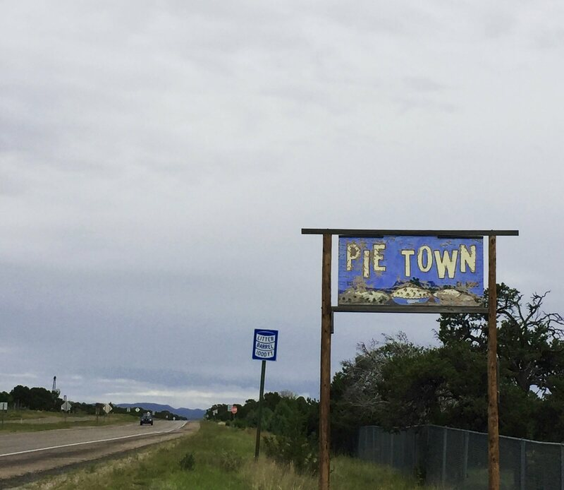 The sign to Pie Town.
