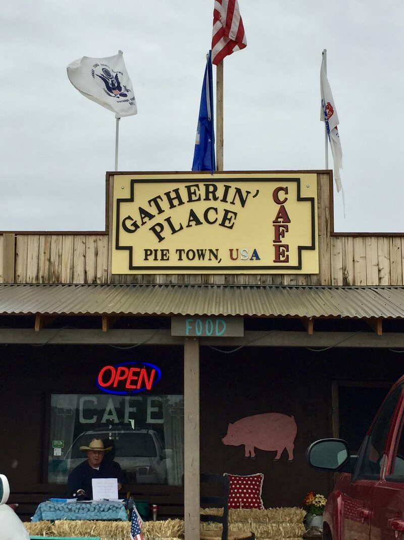 The Gatherin' Place is one of Pie Town's four pie shops.