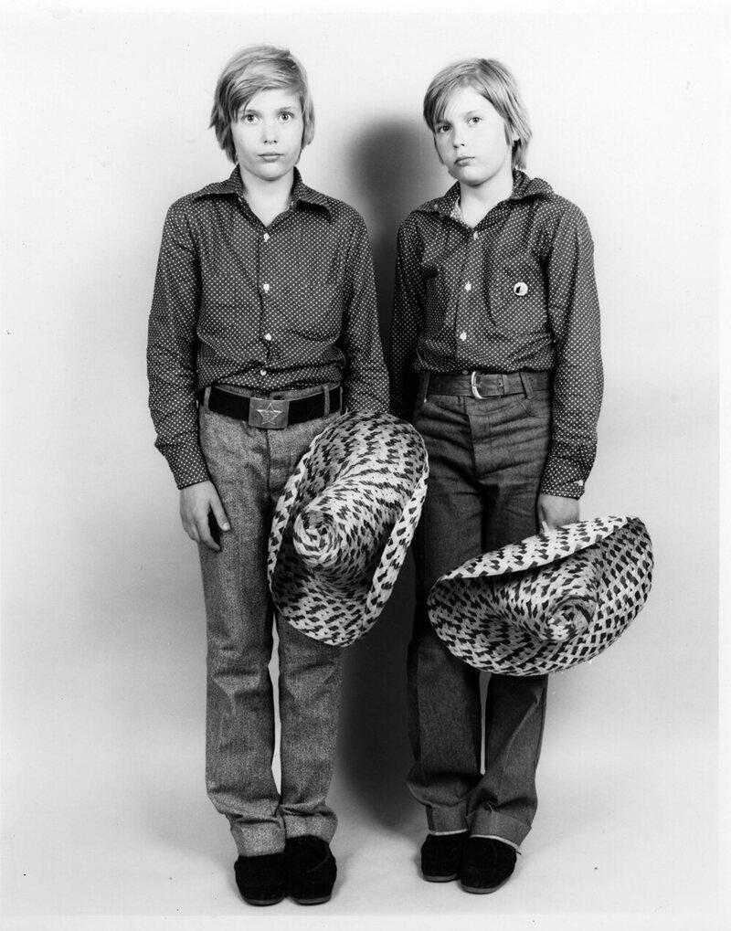 <em>Twins with Cowboy Hats</em>.