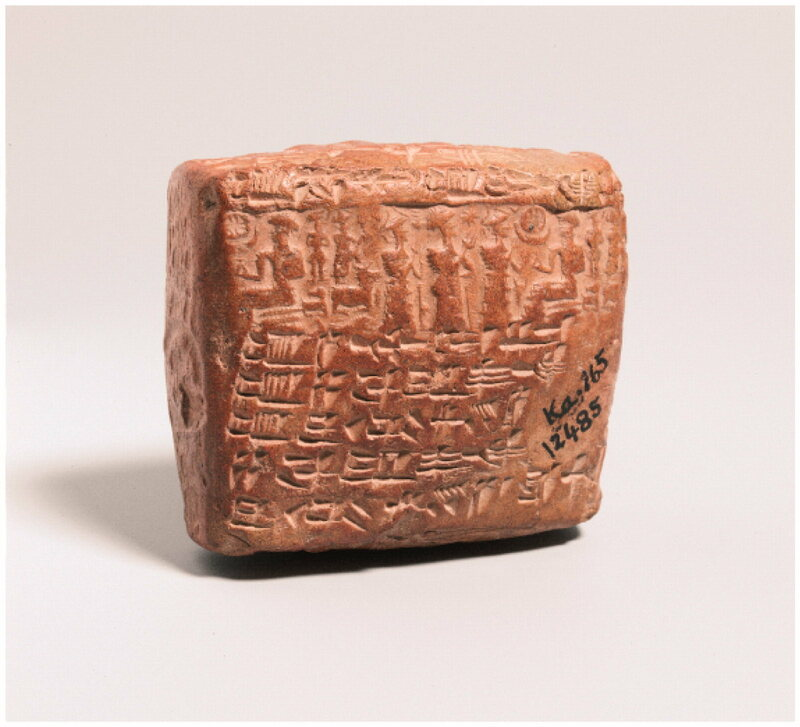A cuneiform tablet with a marriage contract from Kültepe-Kaneshe, Turkey.