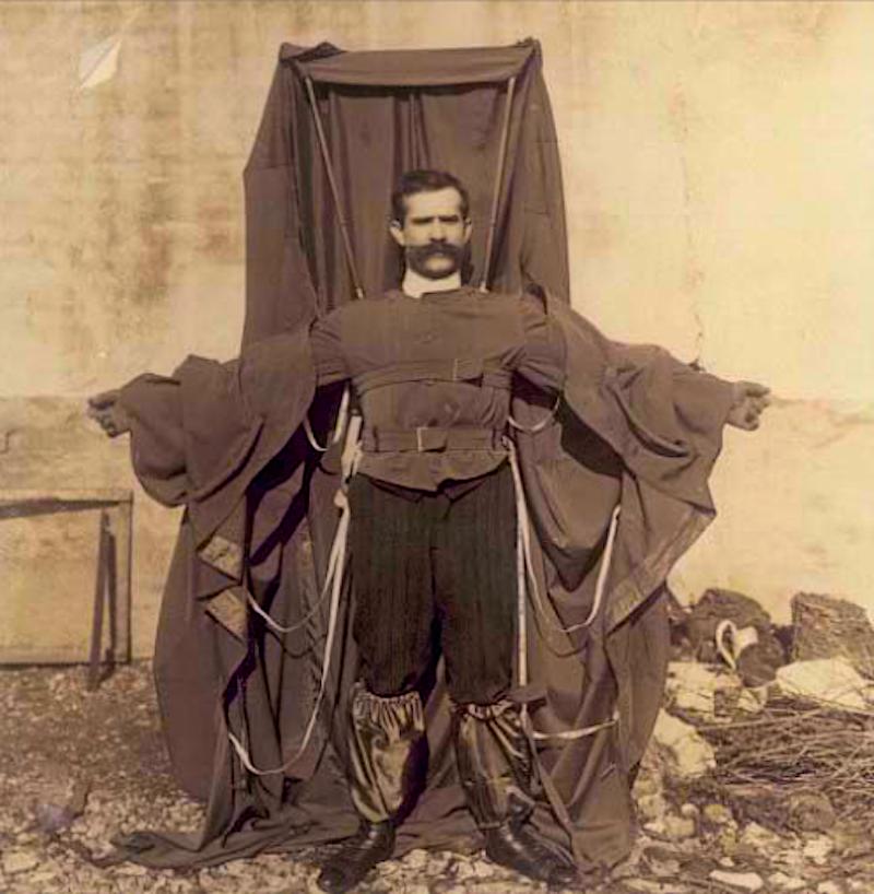 Franz Reichelt in his parachute suit.