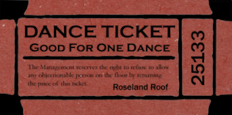 An artist's rendition of a taxi dance ticket.