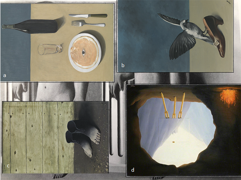 The four paintings that hid <em>The Enchanted Pose</em>.