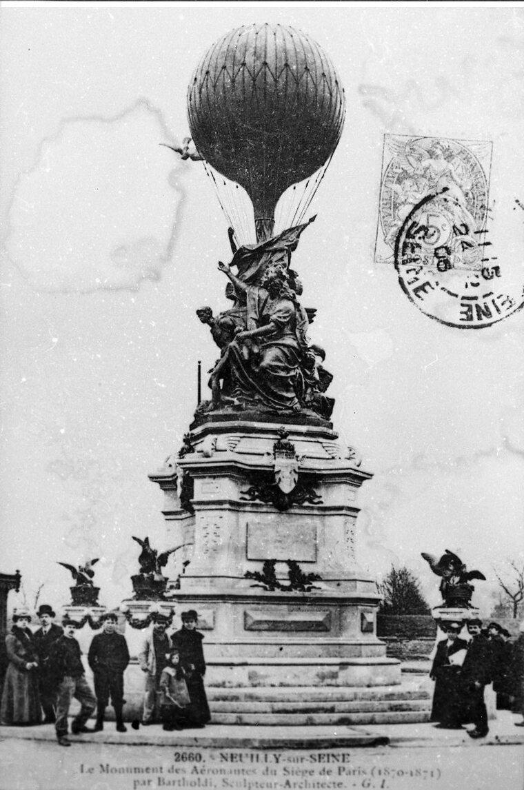 A close-up of Bartholdi's sculpture.