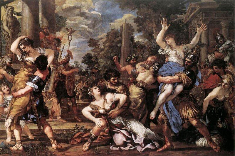 <em>Rape of the Sabine Women</em>, Pietro da Cortona, 1627–29.